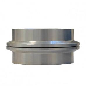 """Par de Flanges em Alumínio para Abraçadeira tipo V-Band / V-Clamp de 3-1/2"""" polegadas"""