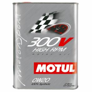 Óleo Motul 300v HIGH RPM 0W20 2L (100% Sintético p/ carros de competição)