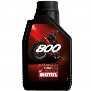 Óleo Motul 800 OFF ROAD 2T 1L (100% Sintético p/ motores de competição)