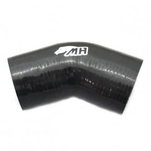 """Mangote em Silicone Redutor Curva 45° graus 4"""" para 3-1/2"""" polegadas (102mm para 89mm) x 152mm"""