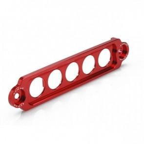 Fixador de Bateria Longo Epman para Honda em Alumínio - Vermelho