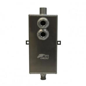 Reservatório de óleo Grande de 3,5L com respiro e conectores 10AN / AN10 - Polido