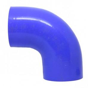 """Mangote Azul em Silicone 90º 3,5"""" Polegadas (89mm) * 120mm - Epman"""