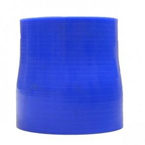 """Mangote Azul em Silicone Redutor Reto 2,75"""" (70mm) para 2,5"""" (63mm) * 76mm - Epman"""