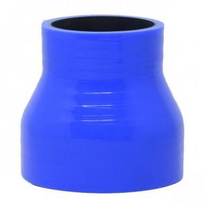 """Mangote Azul em Silicone Redutor Reto 3"""" (76mm) para 2"""" (51mm) * 76mm - Epman"""