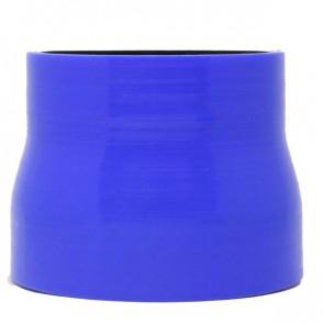 """Mangote Azul em Silicone Redutor Reto 3,5"""" (89mm) para 3"""" (76mm) * 76mm - Epman"""