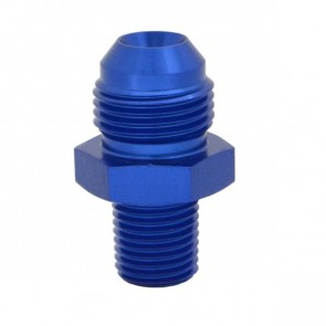 """Niple Adaptador 1/4"""" NPT para 8AN - Azul"""