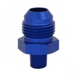 """Niple Adaptador 1/8"""" NPT para 8AN - Azul"""