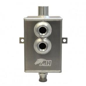 Reservatório de óleo Médio de 2L com respiro e conectores 10AN / AN10 - Polido