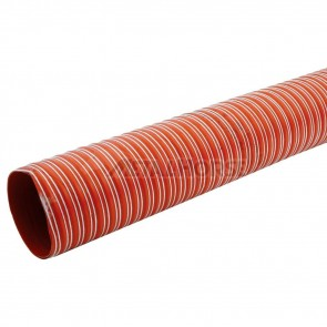 """Duto de Ar (Brake Duct) 2-1/2"""" polegadas (63mm) x 4 Metros - Vermelho"""
