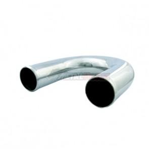 "Tubo em Aluminio Curva 180º 3-1/2"" polegada x 600mm"