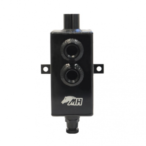 Reservatório de óleo Pequeno de 1L com respiro e conectores 10AN / AN10 - Preto
