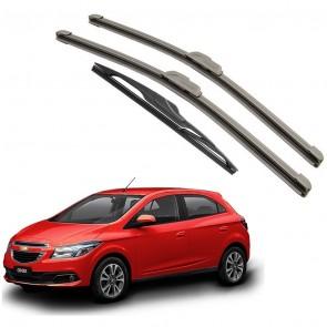 Kit Palhetas Dianteira e Traseira para GM Chevrolet Onix 2012 A Atual