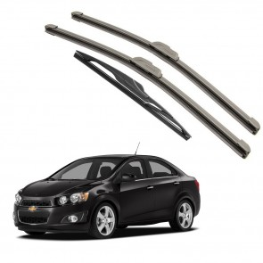 Kit Palhetas Dianteira e Traseira para GM Chevrolet Sonic 2012 A Atual