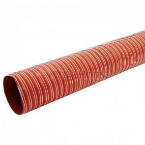 """Duto de Ar (Brake Duct) 5"""" polegadas (127mm) x 4 Metros - Vermelho"""