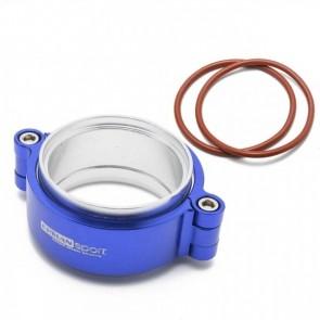 """Abraçadeira V-Band HD 2,5"""" para pressurização em Aluminio com Flanges Epman - Azul"""