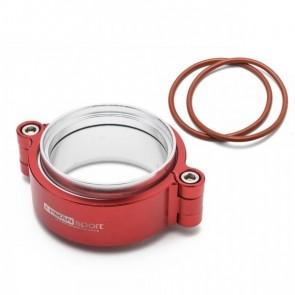 """Abraçadeira V-Band HD 2,5"""" para pressurização em Aluminio com Flanges Epman - Vermelho"""