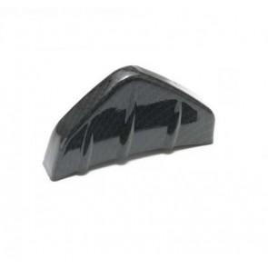 Spoiler Difusor Extrator de Ar Inferior Esportivo Traseiro Tipo Faca em ABS - Fibra de Carbono