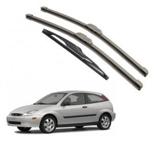 Kit Palhetas Dianteira e Traseira para Ford Focus Ano 2000 A 2007
