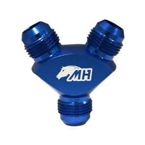 Divisor em Y 10AN / AN10 - Azul (Ideal p/ linha de combustível)