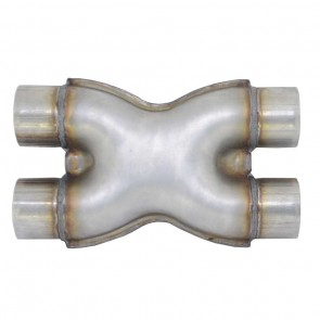 "Tubo X-pipe de 2-1/2"" - Inox"