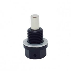 Adaptador Magnético Macho Métrico M12X1.75 com Arruela de Alumínio - Preto