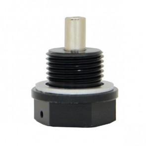 Adaptador Magnético Macho Métrico M18X1.5 com Oring de Alumínio - Preto