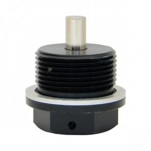 Adaptador Magnético Macho Métrico M26X1.5 com Oring de Alumínio - Preto