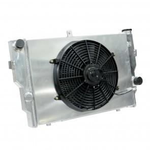 Radiador de Água Racing Completo com Ventoinha para Chevrolet GM Opala 6cil 75> - Montagem Original
