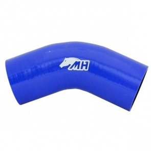 "Mangote em Silicone Curva 45º graus 3"" polegadas (76mm) x 125mm - Azul"