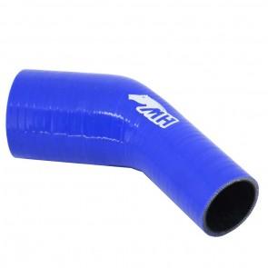 """Mangote em Silicone Redutor Curva 45° graus 3"""" para 2"""" polegadas (76mm para 51mm) x 125mm - Azul"""