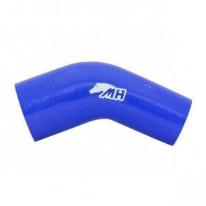 """Mangote em Silicone Redutor Curva 45° graus 3"""" para 2-1/2"""" polegadas (76mm para 63mm) x 125mm - Azul"""