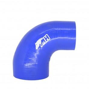 """Mangote em Silicone Redutor Curva 90° graus 4"""""""" para 3"""""""" polegadas (102mm para 76mm) x 125mm - Azul"""