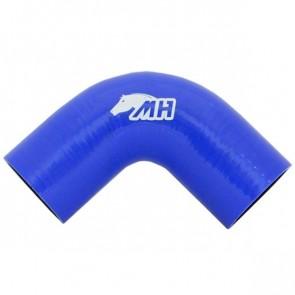 "Mangote em Silicone Curva 90º graus 2-1/2"" polegadas (63mm) x 125mm - Azul"