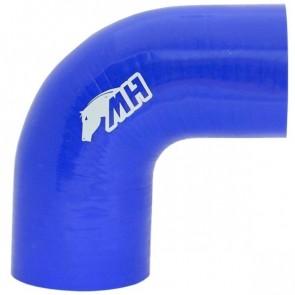 """Mangote em Silicone Redutor Curva 90° graus 3"""" para 2-3/4"""" polegadas (76mm para 70mm) x 125mm - Azul"""
