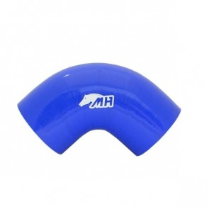 "Mangote em Silicone Curva 90° graus 3-1/2"" polegadas (89mm) x 125mm - Azul"