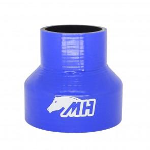 """Mangote em Silicone Redutor Reto 4"""" para 2-1/2"""" polegadas (102mm par 63mm) x 100mm - Azul"""