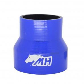 """Mangote em Silicone Redutor Reto 4"""" para 3"""" polegadas (102mm para 76mm) x 100mm - Azul"""