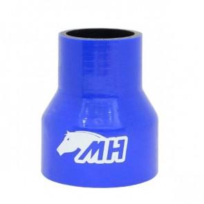 """Mangote em Silicone Redutor Reto 3"""" para 2"""" polegadas (76mm para 51mm) x 100mm - Azul"""