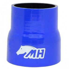 """Mangote em Silicone Redutor Reto 3-1/2"""" para 3"""" polegadas (89mm para 76mm) x 100mm - Azul"""