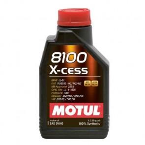 Óleo Motul 8100 XCESS (100% sintético) 5W40 1L