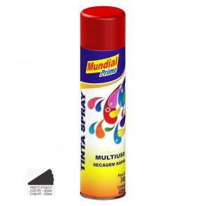 Tinta Spray Preto Fosco Multiuso de Secagem Rápida