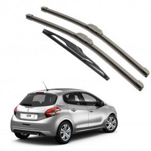 Kit Palhetas Dianteira e Traseira para Peugeot 208 Ano 2012 A Atual