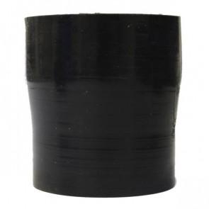 "Mangote Preto em Silicone Redutor Reto 2,5"" (63mm) para 2,25"" (57mm) * 76mm - Epman"