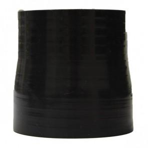 "Mangote Preto em Silicone Redutor Reto 2,75"" (70mm) para 2,5"" (63mm) * 76mm - Epman"