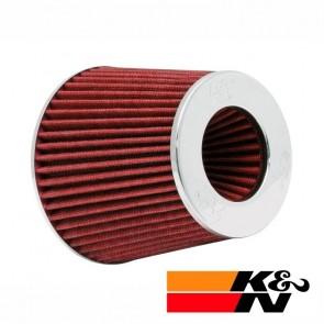 Filtro de Ar Esportivo Cônico Ajustável Duplo Fluxo Vermelho K&N RG1001-RD