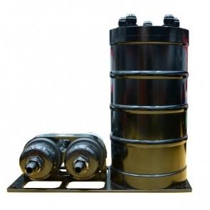 Sistema Completo de Surge Tank de 3 Litros para Duas Bombas Externa - Preto