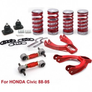 Kit Completo de Suspensão Regulável tipo Rosca Coilover para Honda Civic EG 88-95